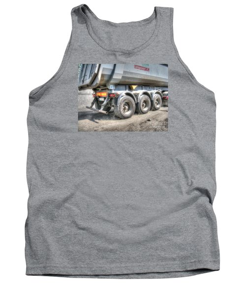 Tank Top featuring the pyrography  Workers At The Construction Site by Yury Bashkin