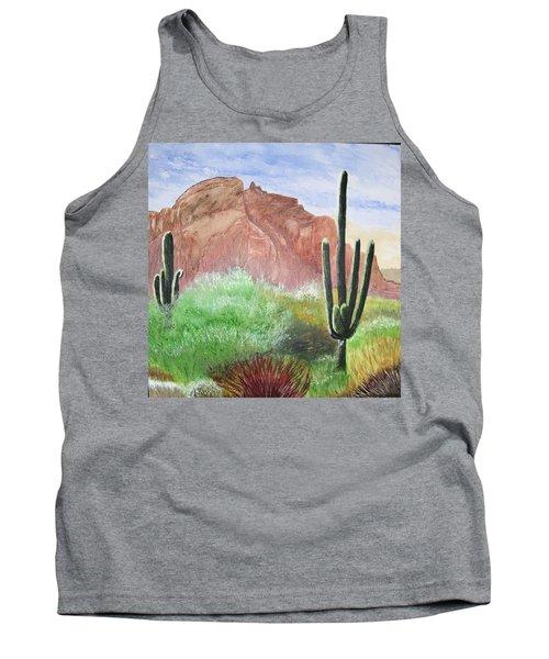 2 Saguaros Tank Top