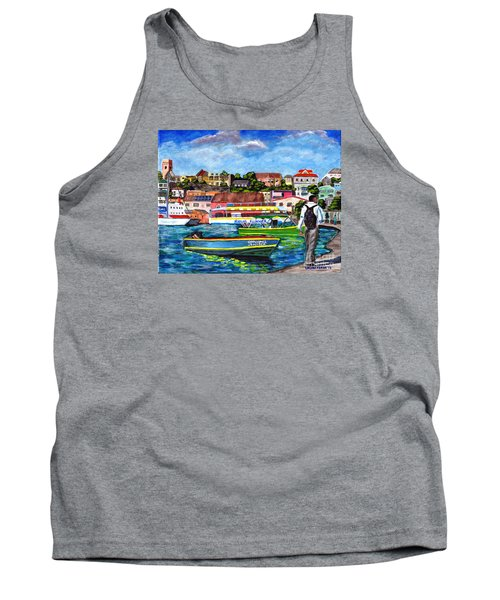 A Stroll On The Carenage Tank Top by Laura Forde