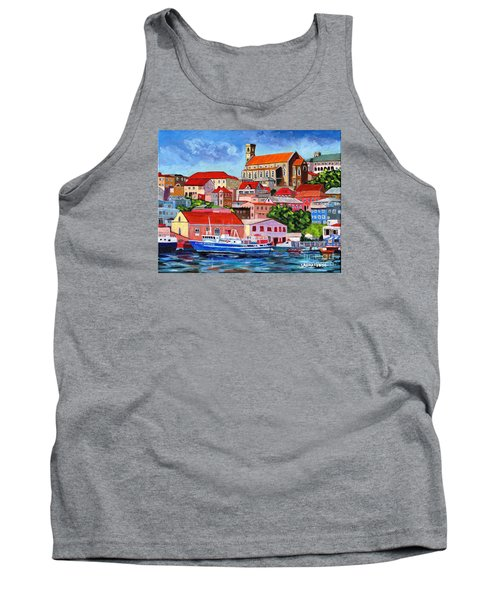 A View Of The Carenage Tank Top by Laura Forde
