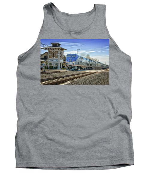 Tank Top featuring the photograph Amtrak 112 by Jim Thompson