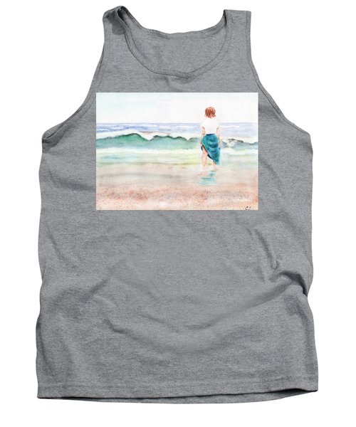 At The Beach Tank Top by C Sitton
