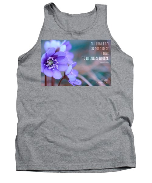 Blue Springtime Flowers Mother's Day Tank Top