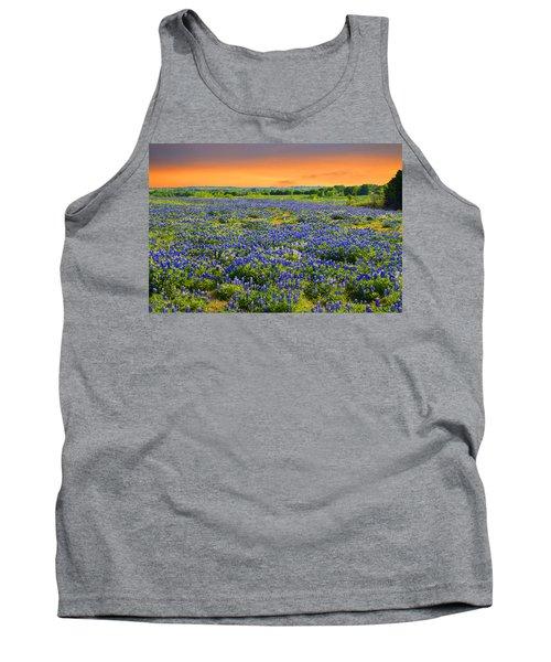 Bluebonnet Sunset  Tank Top