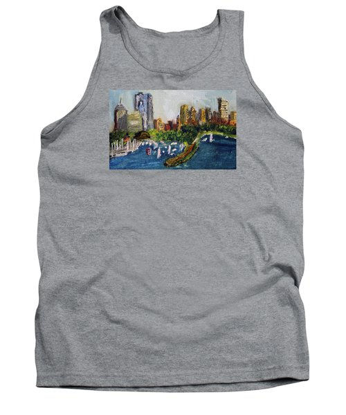 Boston Skyline Tank Top by Michael Helfen