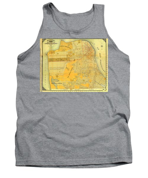 Britton And Reys Guide Map Of The City Of San Francisco. 1887. Tank Top
