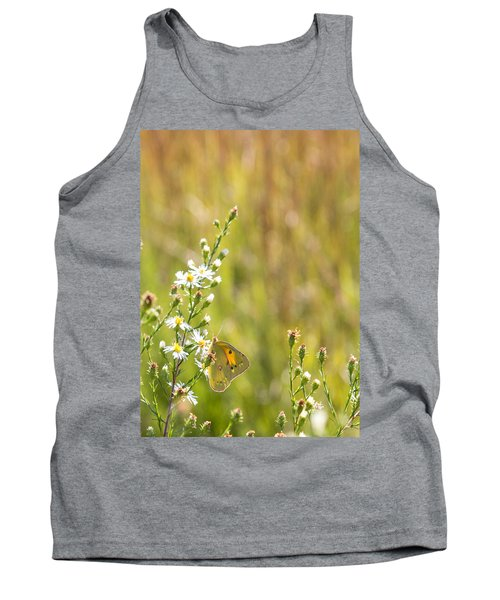 Butterfly In A Field Of Flowers Tank Top