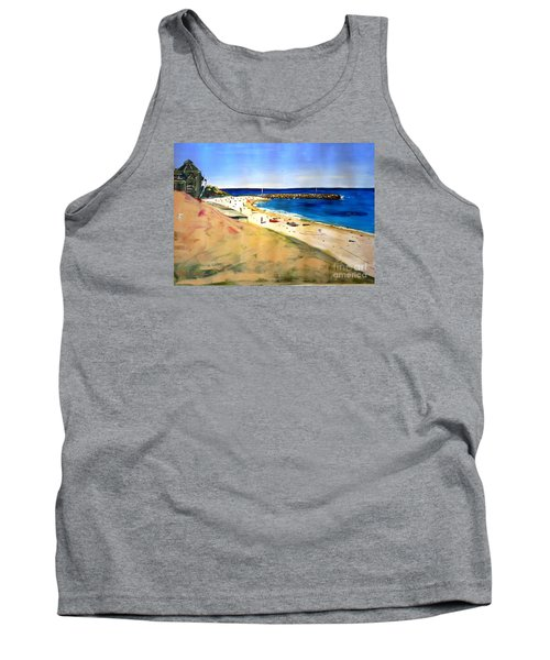 Tank Top featuring the painting Cottesloe Beach by Therese Alcorn