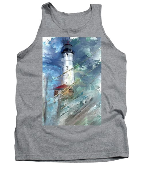 Crisp Point Lighthouse Michigan Tank Top