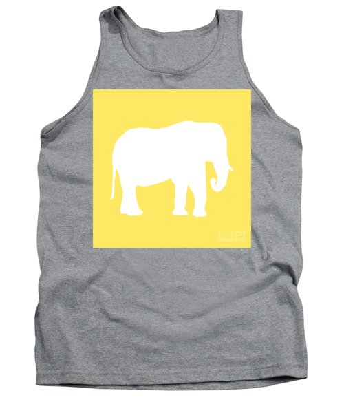 Elephant In Yellow And White Tank Top
