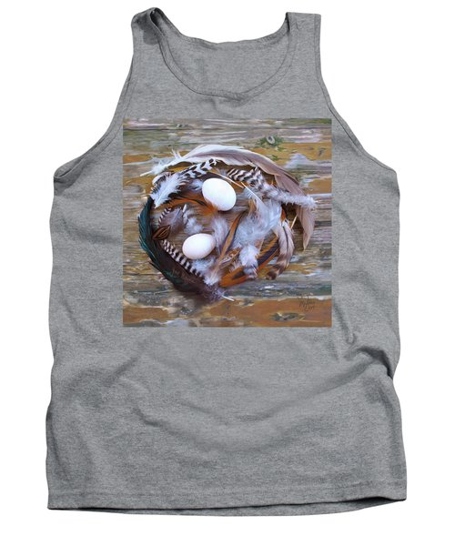 1. Feather Wreath Example Tank Top