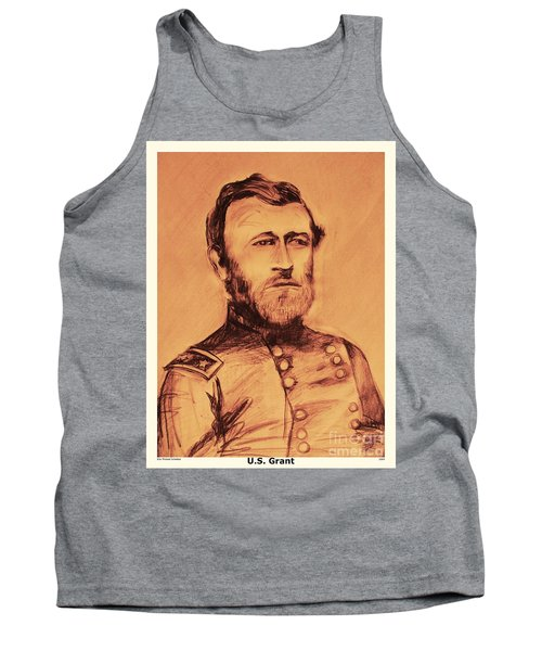 Tank Top featuring the painting General Us Grant by Eric  Schiabor