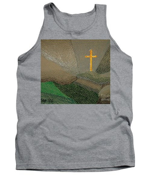 Tank Top featuring the drawing Depression And The Saviour by Rod Ismay