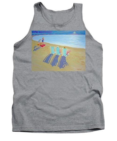Sunset On Beach - Last Rays Tank Top
