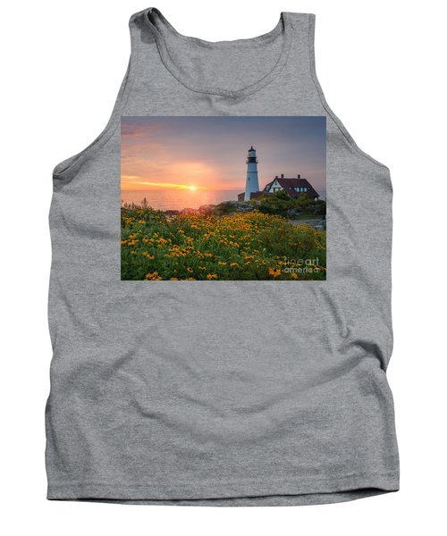 Portland Head Light Sunrise  Tank Top