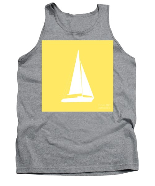 Sailboat In Yellow And White Tank Top