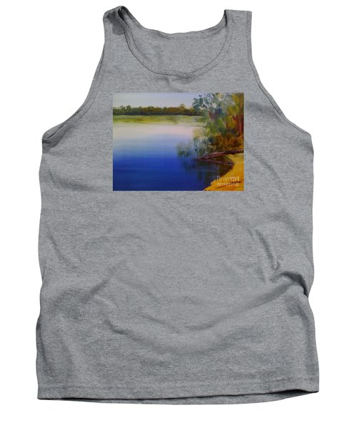 Tank Top featuring the painting Still Waters - Original Sold by Therese Alcorn