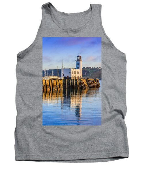 Sunset Over Scarborough Lighthouse Tank Top