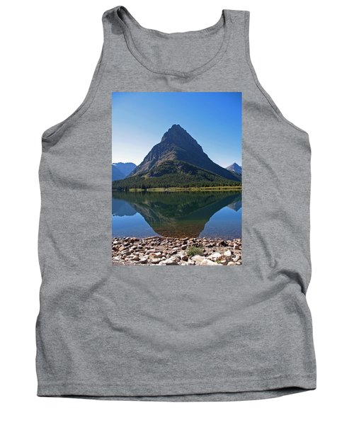 Tank Top featuring the photograph Swiftcurrent  Lake Many Glacier by Joseph J Stevens