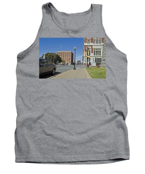 Tank Top featuring the photograph Texas School Book Depository by Charles Beeler