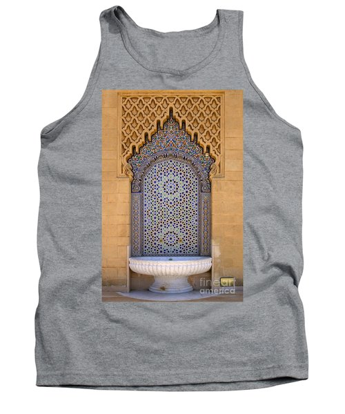 Tank Top featuring the photograph Water Fountain Mausoleum Of Mohammed V Opposite Hassan Tower Rabat Morocco  by Ralph A  Ledergerber-Photography