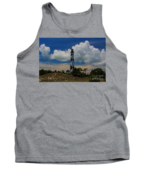 Cape Lookout Lighthouse Tank Top by Tony Cooper
