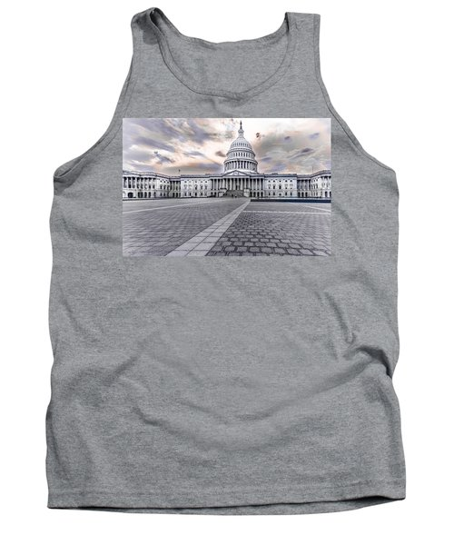 Tank Top featuring the photograph Capitol Building by Peter Lakomy