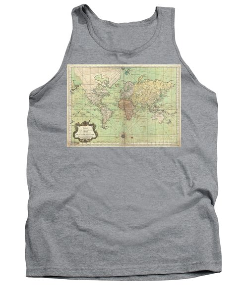 1778 Bellin Nautical Chart Or Map Of The World Tank Top