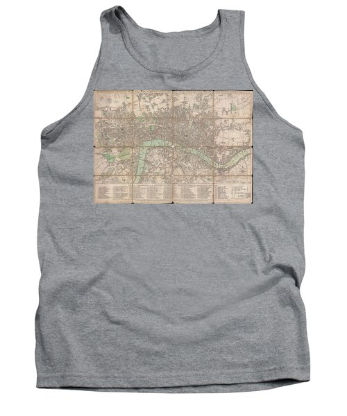 1795 Bowles Pocket Map Of London Tank Top