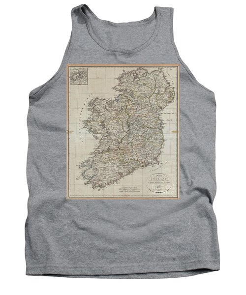 1804 Jeffreys And Kitchin Map Of Ireland Tank Top
