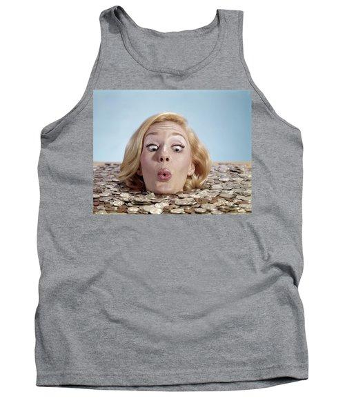 1960s Blond Woman Funny Facial Tank Top