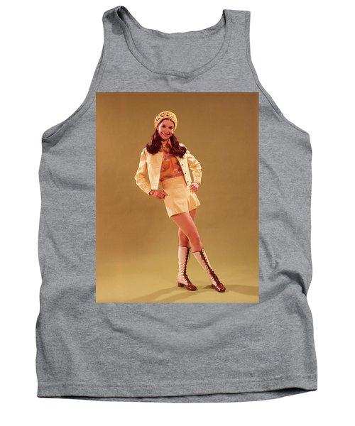1960s Young Woman In Mini Skirt Tank Top