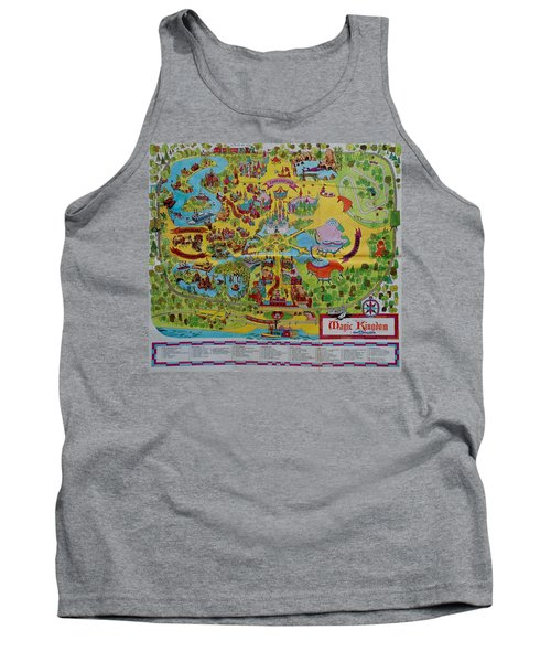 1971 Original Map Of The Magic Kingdom Tank Top