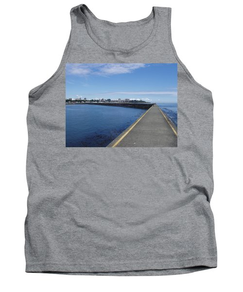 Tank Top featuring the photograph Along The Breakwater by Marilyn Wilson