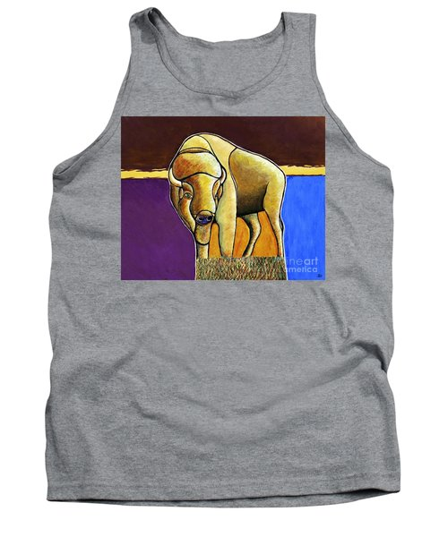 Tank Top featuring the painting Buffalo 1 by Joseph J Stevens