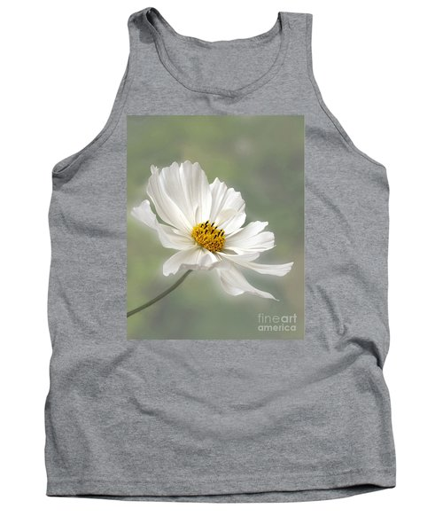 Cosmos Flower In White Tank Top