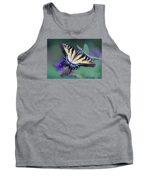Eastern Tiger Swallowtail Butterfly On Butterfly Bush Tank Top