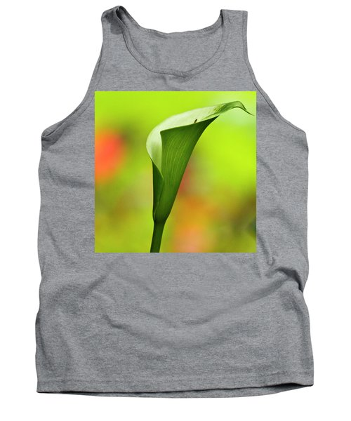 Green Calla Lily Tank Top