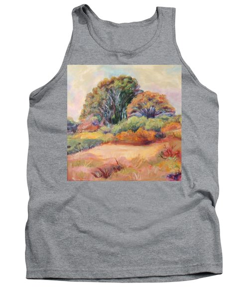 Tank Top featuring the painting Henry's Backyard by Patricia Piffath