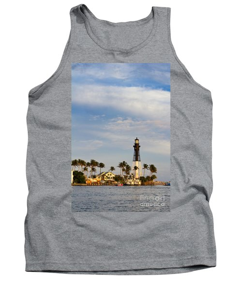 Hillsboro Inlet Lighthouse Tank Top by Les Palenik