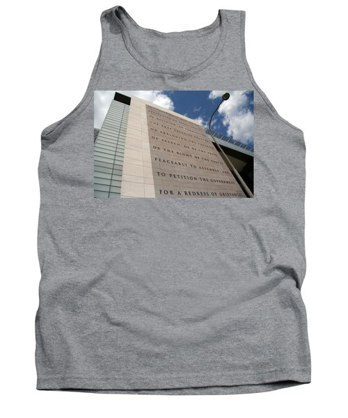 Tank Top featuring the photograph The Newseum by Cora Wandel