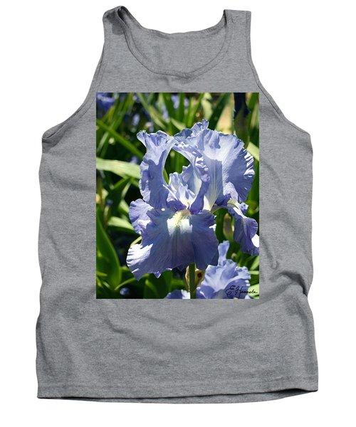 Purple Bearded Iris Tank Top