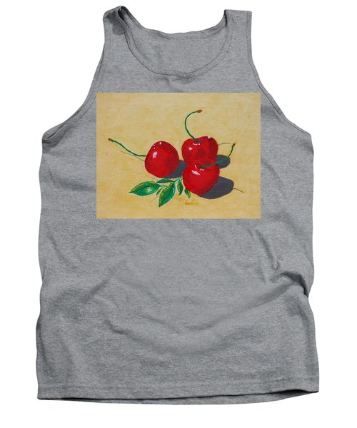 Red Cherries Tank Top by Johanna Bruwer