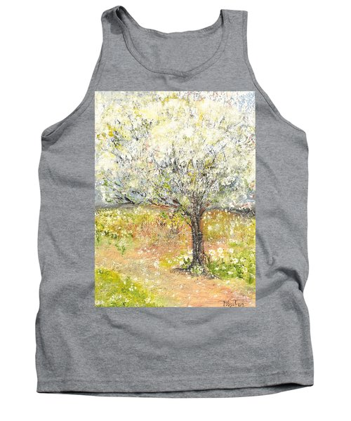 Tank Top featuring the painting Spring by Evelina Popilian
