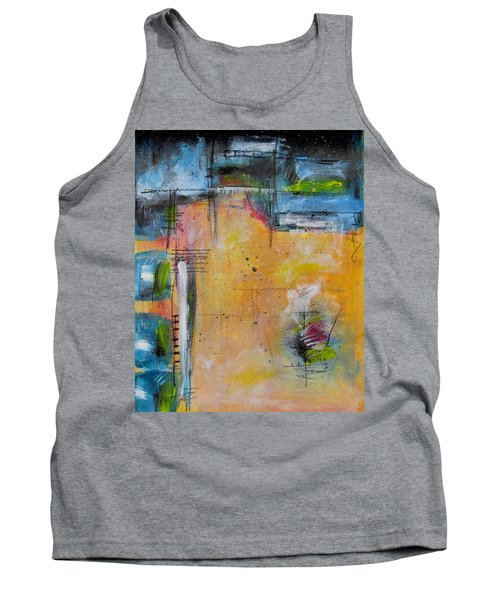 Tank Top featuring the painting Spring by Nicole Nadeau