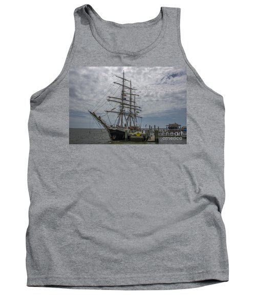 Tank Top featuring the photograph Tall Ship Gunilla by Dale Powell