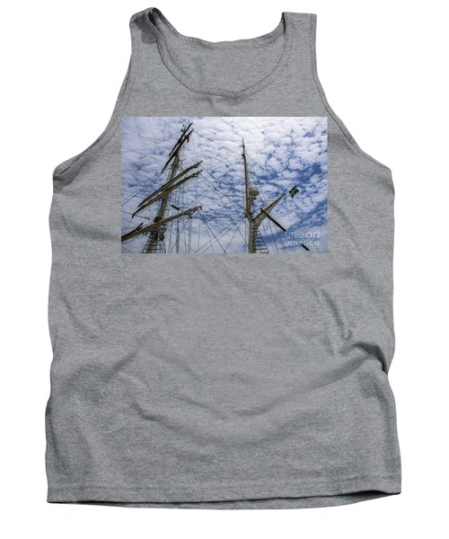 Tank Top featuring the photograph Tall Ship Mast by Dale Powell