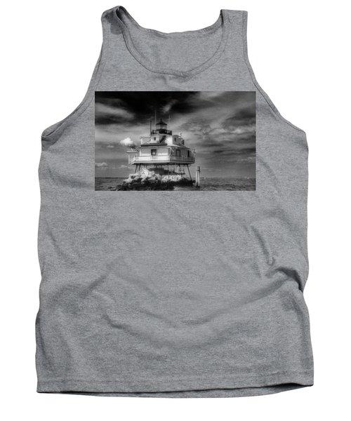Thomas Point Shoal Lighthouse Black And White Tank Top