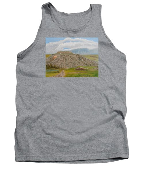 Tucumcari Mountain Reflections On Route 66 Tank Top by Sheri Keith