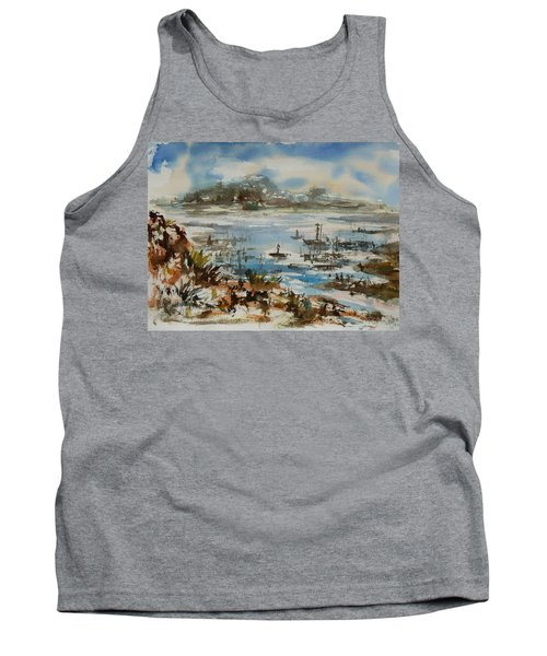 Tank Top featuring the painting Bay Scene by Xueling Zou